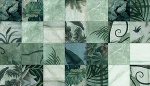 14 Ora Italiana Le Pietre Puzzling 0144669_LE PIETRE PUZZLING VERDE MIX 25x25 , Living room, Kitchen, Bathroom, Patchwork style style, Designer style style, ENZOEUSEBI+PARTNERS, Stone effect effect, Glazed porcelain stoneware, wall & floor, Matte surface, Rectified edge