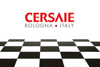 Overview of Cersaie 2018 Ceramic Tile Exhibition. Bologna, Italy