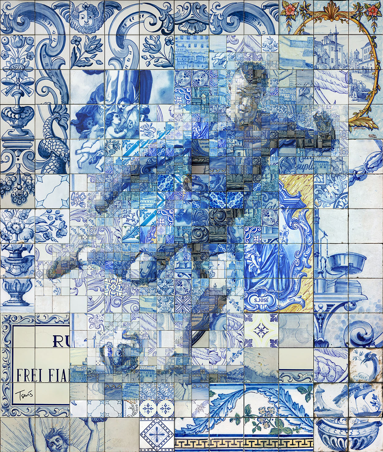 Made In Portugal Tile World Cultural Heritage And Source Of - Portugal map size