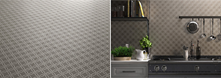Asian Motifs in Fiumi Porcelain Tile by Vitrex