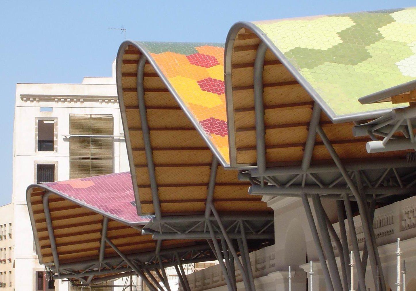 Ceramic tile roofing of santa caterina market in barcelona dailygadgetfo Choice Image