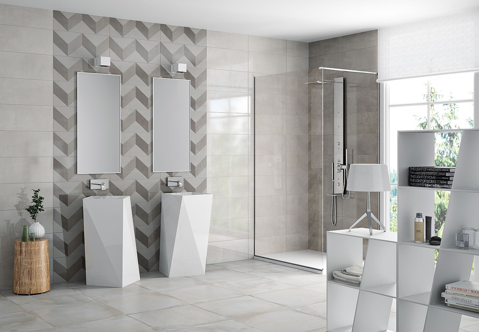 TRACE Ceramic Tiles by Cifre Ceramica