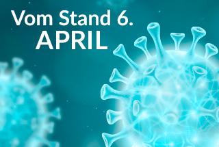 VOM STAND 6. APRIL, trotz einiger Einschränkungen wegen Coronavirus, laufen die Lieferungen routinemäßig