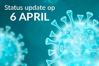 STATUS UPDATE OP 6 APRIL, de bezorging gaat door ondanks enkele quarantainebeperkingen