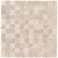 ABK Ceramiche Unika UKR09052_30X30Mos.OpusMiniUnikaCream , Public spaces, Bathroom, Living room, Outdoors, Stone effect effect, Concrete effect effect, Wood effect effect, Patchwork style style, Glazed porcelain stoneware, wall & floor, Slip-resistance R10, R11, Non-rectified edge, Rectified edge, Shade variation V3