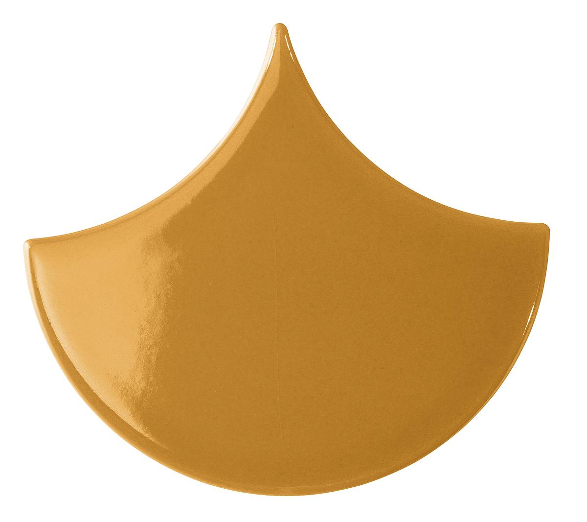 Carrelage Scales de Aleluia, Céramique, 13.5x15 cm, Surface brillante, Teinte orange,