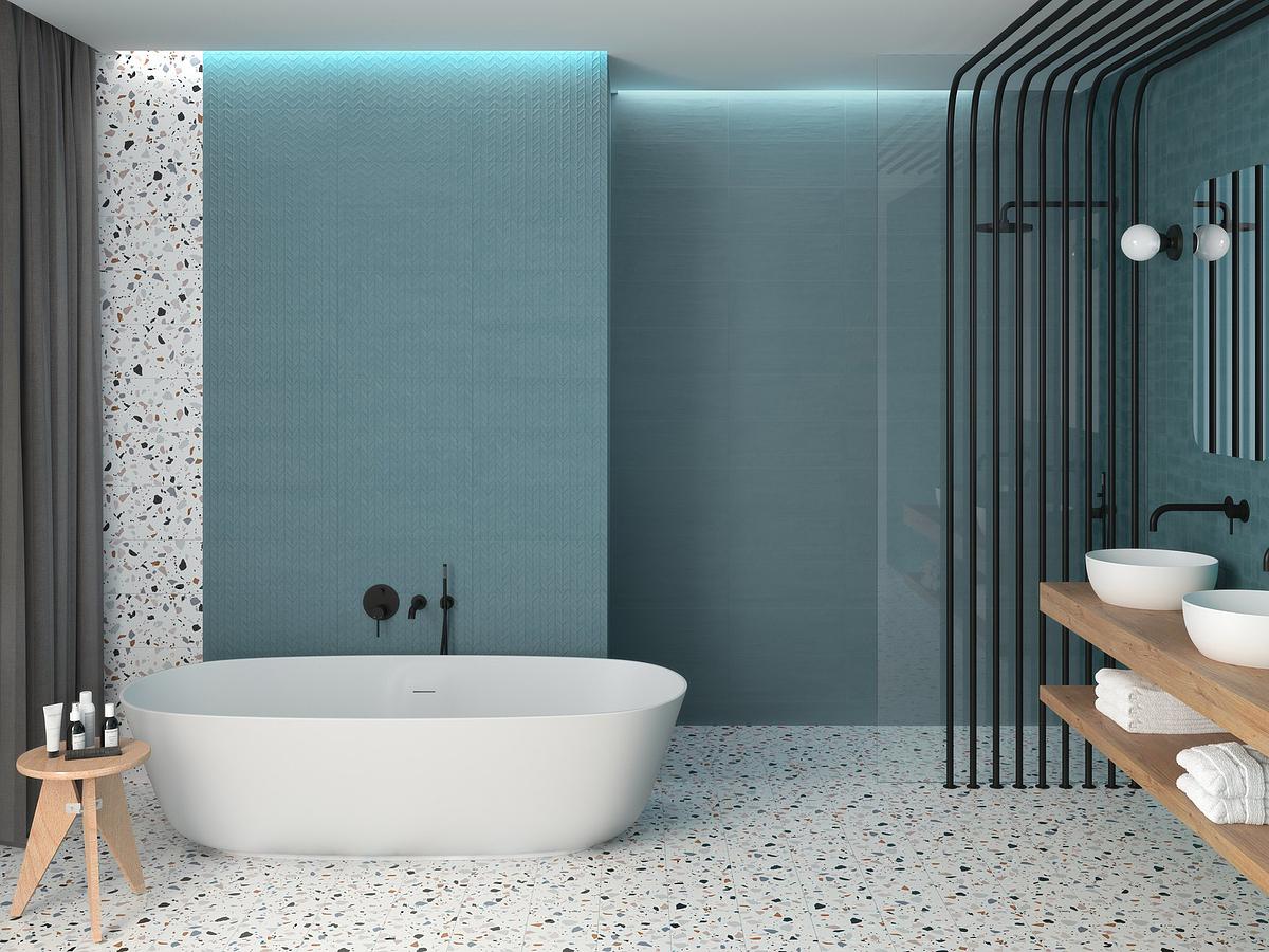ape-trendyBathroom, Public spaces, Kitchen, Stone effect, Glazed porcelain stoneware, wall & floor, Slip-resistance R10, Non-rectified edge, Shade variation V2