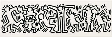 Gr s c rame game of fifteen keith haring de ascot tile Carrelage keith haring