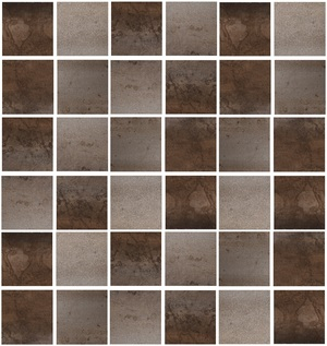 Azteca Cosmos MOSAICO COSMOS TS ÓXIDO 30x30 , Metal effect effect, Living room, Bathroom, Public spaces, Ceramic Tile, Glazed porcelain stoneware, wall & floor, Semi-polished surface, Rectified edge, Shade variation V4
