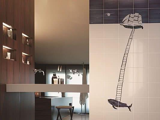 Il veliero e la balena di bardelli tile expert rivenditore di piastrelle in italia - Ceramica bardelli cucina ...
