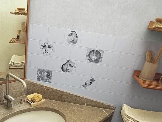 Piastrelle in ceramica tema e variazione di bardelli. tile.expert