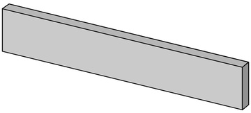 Bayker Mood 14149_BattiscopaMoodWhite6,5*60 , Espace public, Effet effet béton, Grès cérame émaillé, revêtement mur et sol, Surface mate, Bord rectifié, bord non rectifié
