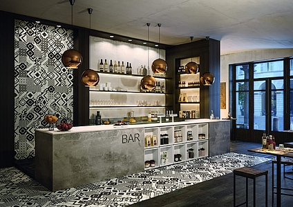 Piastrelle in gres porcellanato quilt di bayker tile expert