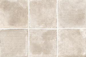 Cerdisa Reden 52518_RedenDecoratoIvory_60*60 , Patchwork style style, Concrete effect effect, Bedroom, Outdoors, Public spaces, Bathroom, Living room, Unglazed porcelain stoneware, wall & floor, Slip-resistance R10, R11, Polished surface, Matte surface, Rectified edge, Shade variation V3