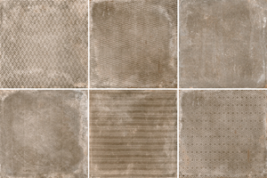 Cerdisa Reden 52543_RedenDecoratoBiscuit_60*60 , Patchwork style style, Concrete effect effect, Bedroom, Outdoors, Public spaces, Bathroom, Living room, Unglazed porcelain stoneware, wall & floor, Slip-resistance R10, R11, Polished surface, Matte surface, Rectified edge, Shade variation V3