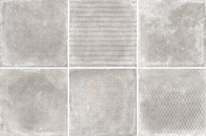 Cerdisa Reden 52568_RedenDecoratoGrey_60*60 , Patchwork style style, Concrete effect effect, Bedroom, Outdoors, Public spaces, Bathroom, Living room, Unglazed porcelain stoneware, wall & floor, Slip-resistance R10, R11, Polished surface, Matte surface, Rectified edge, Shade variation V3