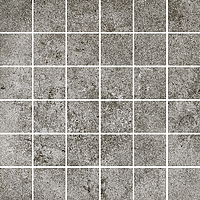 Cerdisa Reden 52586_RedenMosaico5X5DarkGrey , Patchwork style style, Concrete effect effect, Bedroom, Outdoors, Public spaces, Bathroom, Living room, Unglazed porcelain stoneware, wall & floor, Slip-resistance R10, R11, Polished surface, Matte surface, Rectified edge, Shade variation V3