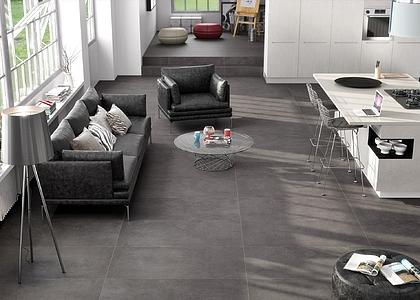 Paraschizzi cucina piastrelle pavimento colore grigio