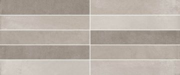 Cifre Ceramica Trace Tesel Trace White Mix , Bathroom, Concrete effect effect, Ceramic Tile, wall, Glossy surface, non-rectified edge, Shade variation V2