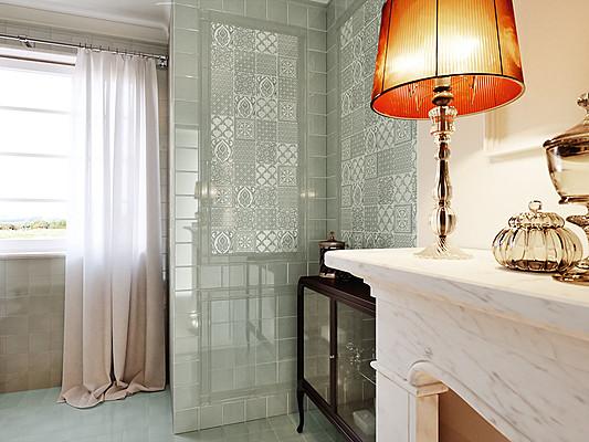 Eccellente bagno verde piastrelle da decoratori bassanesi olimpo
