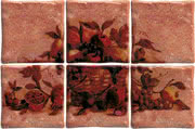 Elios Ceramica Ciottoli 01E6925_Pann.AntichiSaporiRossoS/6 , Kitchen, Provence style style, Ceramic Tile, wall & floor, Glossy surface, non-rectified edge