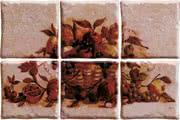 Elios Ceramica Ciottoli 01E6930_Pann.AntichiSaporiRosaS/6 , Kitchen, Provence style style, Ceramic Tile, wall & floor, Glossy surface, non-rectified edge