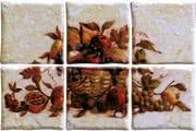 Elios Ceramica Ciottoli 01E6940_Pann.AntichiSaporiBott.S/6 , Kitchen, Provence style style, Ceramic Tile, wall & floor, Glossy surface, non-rectified edge