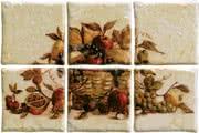Elios Ceramica Ciottoli 01E6950_Pann.AntichiSaporiPagl.S/6 , Kitchen, Provence style style, Ceramic Tile, wall & floor, Glossy surface, non-rectified edge