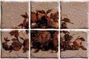 Elios Ceramica Ciottoli 01E6965_Pann.AntichiSaporiNoceS/6 , Kitchen, Provence style style, Ceramic Tile, wall & floor, Glossy surface, non-rectified edge