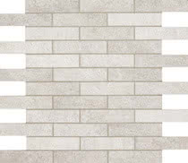 Elios Ceramica Earth 0210201_EarthMos.2,5X10BiancoSfals. , Public spaces, Bathroom, Kitchen, Stone effect effect, Provence style style, Antique style style, Unglazed porcelain stoneware, Glazed porcelain stoneware, wall, floor, non-rectified edge, Matte surface
