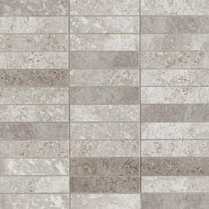 Elios Ceramica Earth 0210275_EarthMos.2,5X10Grigio , Public spaces, Bathroom, Kitchen, Stone effect effect, Provence style style, Antique style style, Unglazed porcelain stoneware, Glazed porcelain stoneware, wall, floor, non-rectified edge, Matte surface