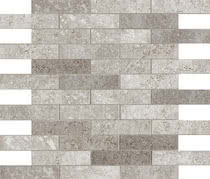Elios Ceramica Earth 0210276_EarthMos.2,5X10GrigioSfals. , Public spaces, Bathroom, Kitchen, Stone effect effect, Provence style style, Antique style style, Unglazed porcelain stoneware, Glazed porcelain stoneware, wall, floor, non-rectified edge, Matte surface