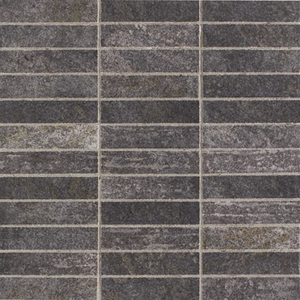 Elios Ceramica Earth 0210285_EarthMos.2,5X10Antrac. , Public spaces, Bathroom, Kitchen, Stone effect effect, Provence style style, Antique style style, Unglazed porcelain stoneware, Glazed porcelain stoneware, wall, floor, non-rectified edge, Matte surface