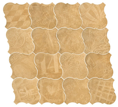 Equipe Ceramicas Curvytile 21778_Cotto Wheat_EQ-10D , Living room, Public spaces, Kitchen, Outdoors, Bedroom, Patchwork style style, Terracotta effect effect, Glazed porcelain stoneware, wall & floor, Matte surface, non-rectified edge