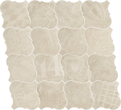 Equipe Ceramicas Curvytile 21779_Cotto Cinder Chalk_EQ-10D , Living room, Public spaces, Kitchen, Outdoors, Bedroom, Patchwork style style, Terracotta effect effect, Glazed porcelain stoneware, wall & floor, Matte surface, non-rectified edge