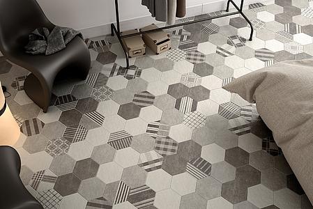Piastrelle Esagonali Gres : Piastrelle in gres porcellanato hexatile cement di equipe tile