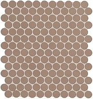 FAP Ceramiche Color Now fMTX_ColorNowFangoRoundMosaico , Bathroom, Public spaces, Kitchen, Ceramic Tile, wall, Matte surface, Rectified edge, non-rectified edge, Shade variation V1