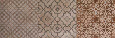 FAP Ceramiche Creta fK12_CretaDeco , Kitchen, Living room, Bathroom, 3D effect effect, Brick effect effect, Patchwork style style, Ceramic Tile, wall, Matte surface, Rectified edge, Shade variation V2