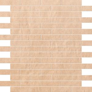 FAP Ceramiche Creta fK4V_CretaNaturaleBrickMosaico , Kitchen, Living room, Bathroom, 3D effect effect, Brick effect effect, Patchwork style style, Ceramic Tile, wall, Matte surface, Rectified edge, Shade variation V2