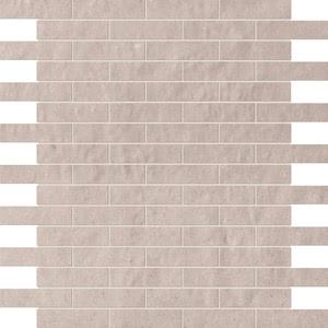 FAP Ceramiche Creta fK4Y_CretaPerlaBrickMosaico , Kitchen, Living room, Bathroom, 3D effect effect, Brick effect effect, Patchwork style style, Ceramic Tile, wall, Matte surface, Rectified edge, Shade variation V2