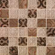 FAP Ceramiche Creta fK62_CretaMaiolicaBeigeMosaico , Kitchen, Living room, Bathroom, 3D effect effect, Brick effect effect, Patchwork style style, Ceramic Tile, wall, Matte surface, Rectified edge, Shade variation V2