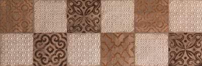 FAP Ceramiche Creta fK66_CretaMaiolicaBeigeInserto , Kitchen, Living room, Bathroom, 3D effect effect, Brick effect effect, Patchwork style style, Ceramic Tile, wall, Matte surface, Rectified edge, Shade variation V2