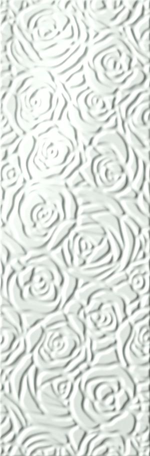 FAP Ceramiche Lumina fKGO_SoleRoseBianco , Bathroom, Kitchen, Public spaces, Living room, 3D effect effect, Unicolor, Ceramic Tile, wall, Matte surface, Glossy surface, Rectified edge, non-rectified edge, Shade variation V1