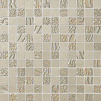 FAP Ceramiche Meltin fKRO_MeltinCementoMosaico , Living room, Kitchen, Bathroom, Concrete effect effect, 3D effect effect, Fabric (wallpaper) effect effect, Ceramic Tile, wall, Matte surface, Rectified edge, non-rectified edge, Shade variation V1