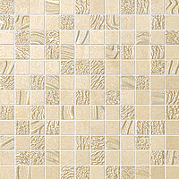 FAP Ceramiche Meltin fKRP_MeltinSabbiaMosaico , Living room, Kitchen, Bathroom, Concrete effect effect, 3D effect effect, Fabric (wallpaper) effect effect, Ceramic Tile, wall, Matte surface, Rectified edge, non-rectified edge, Shade variation V1