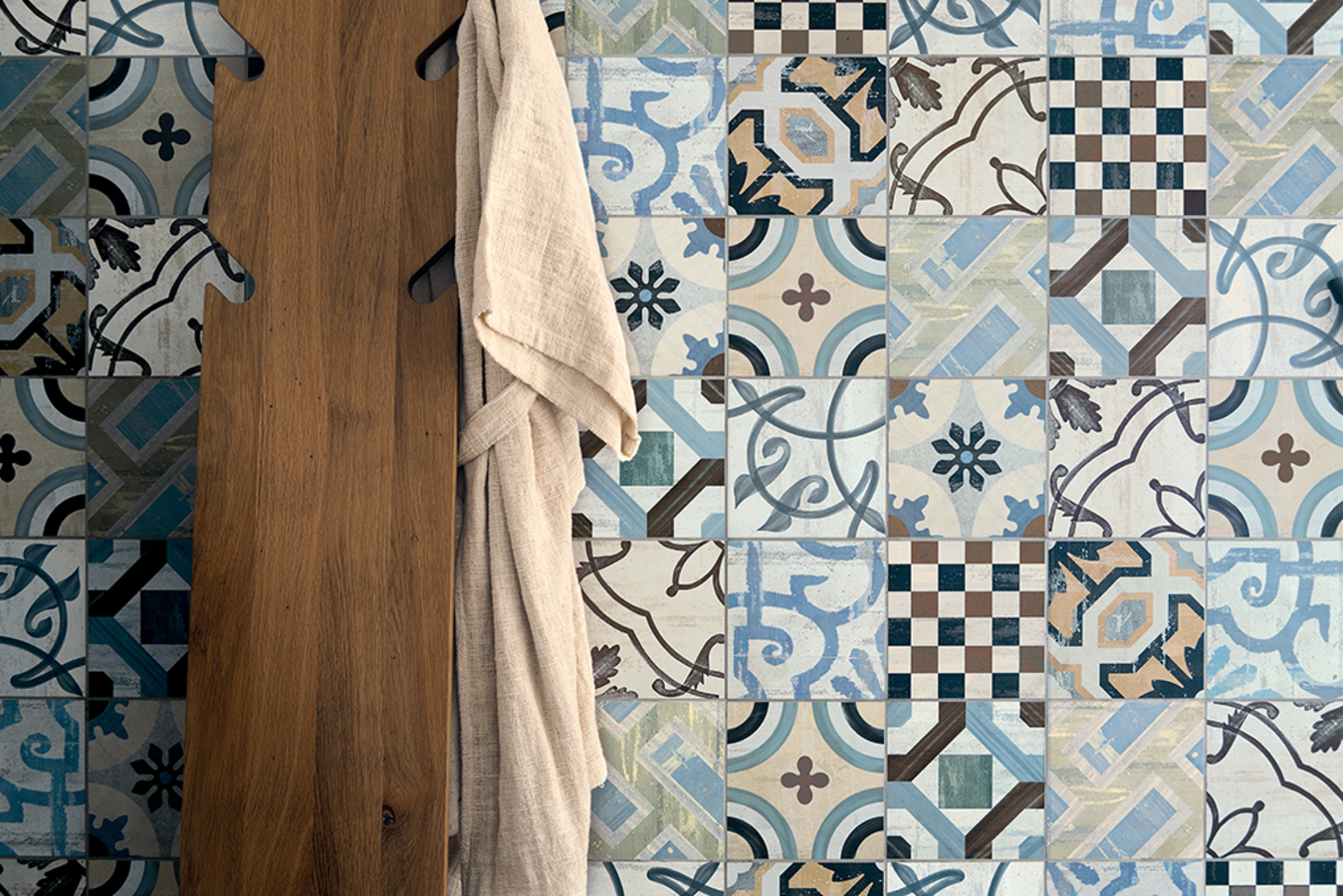 Piastrelle in gres porcellanato cementine 20 di fioranese. tile