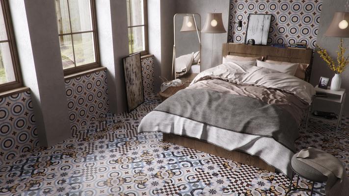 Piastrelle in gres porcellanato cementine di fioranese tile
