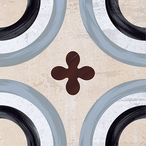 Ceramica Fioranese Cementine 20 IND20C1_Cementina_1 , Kitchen, Bathroom, Designer style style, Patchwork style style, Silvia Stanzani, Faux encaustic tile effect, PEI IV, Glazed porcelain stoneware, wall & floor, Matte surface, Rectified edge, Shade variation V2, V4