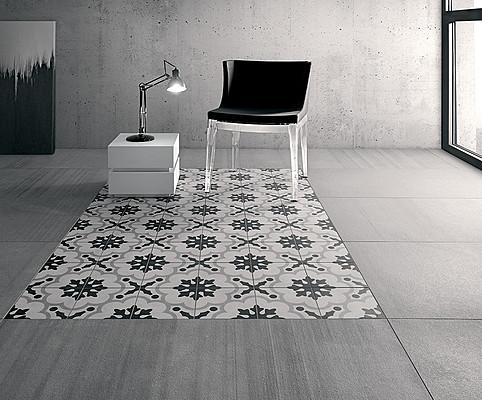 Cementine Black Amp White Porcelain Tiles By Fioranese Tile