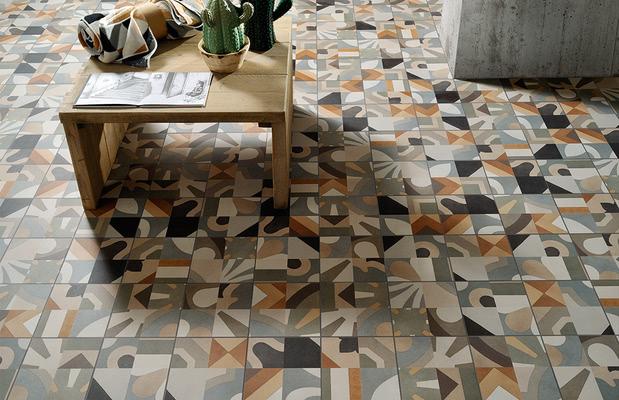 Piastrelle in gres porcellanato cementine boho di fioranese tile